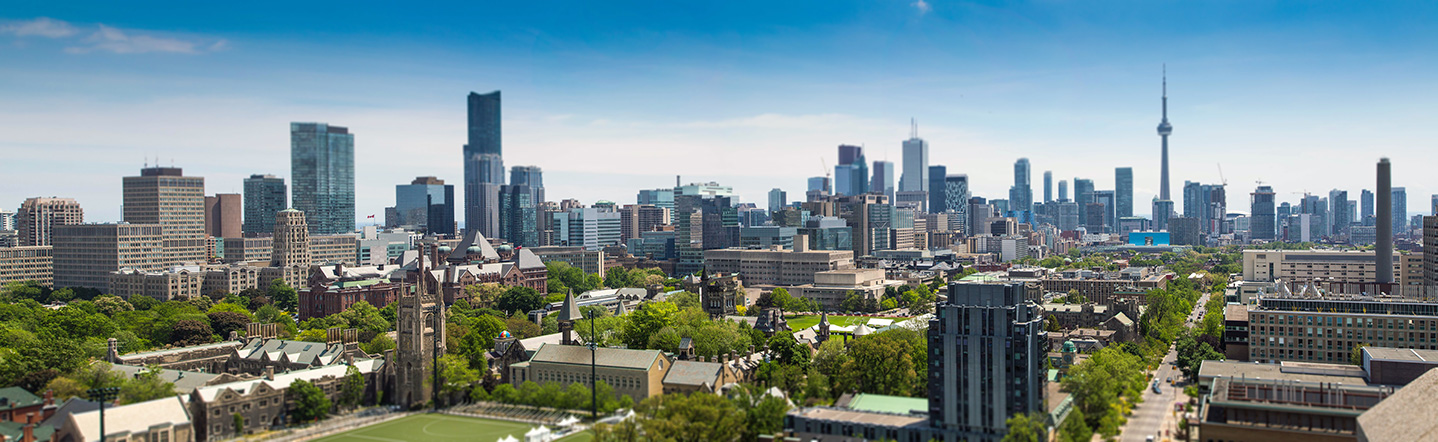City of Toronto & University of Toronto campus.