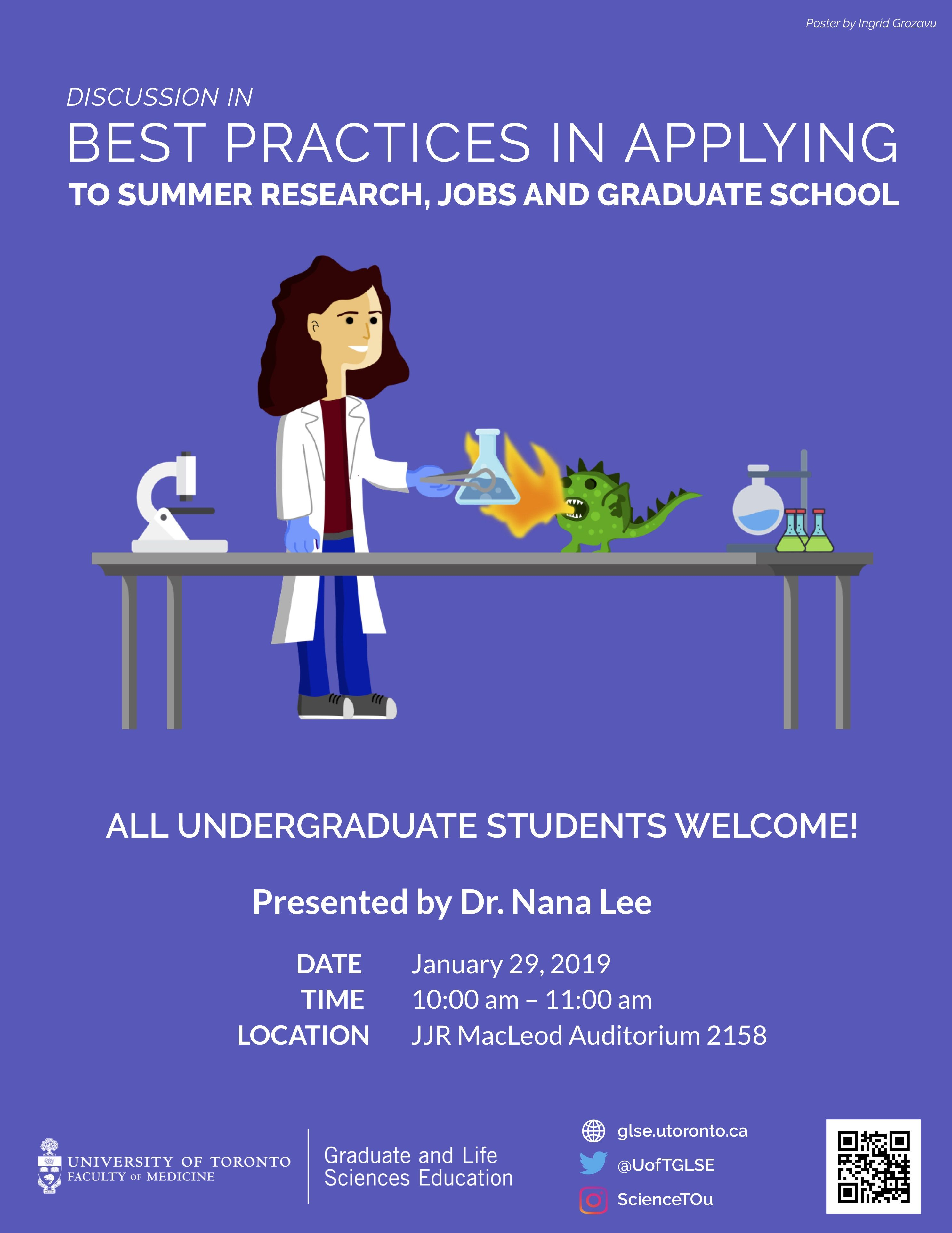 Discussion in Best Practices in Applying to Summer Research Jobs Graduate School