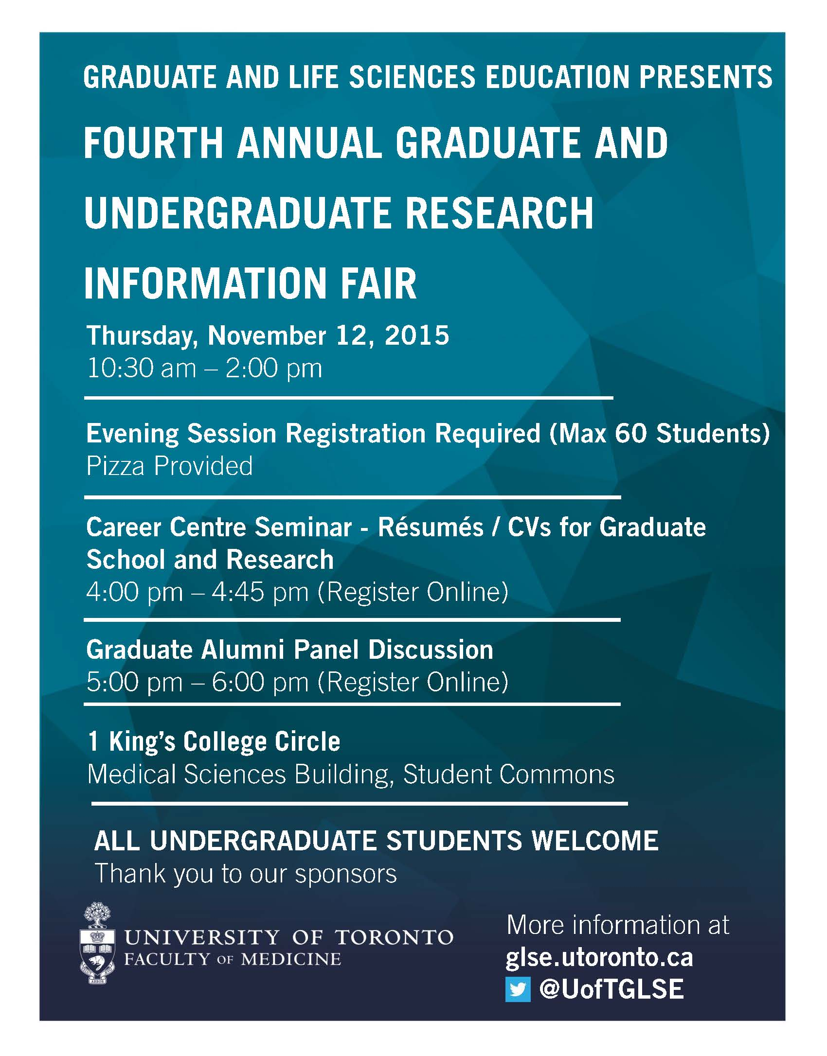 Fourth Annual Graduate and Undergraduate Research Information Fair